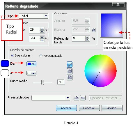 Corel Draw x3: Relleno degradado