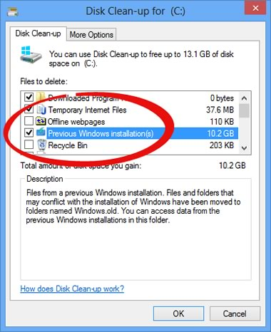C 243 Mo Eliminar La Carpeta Windows Old En Windows 8