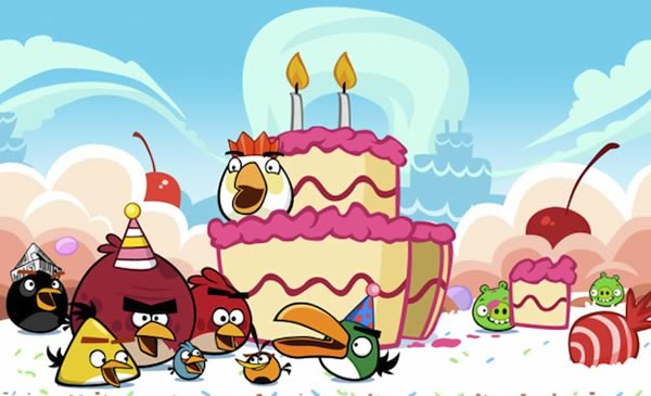 Angry Birds celebrant 3 años: Happy Birdday!