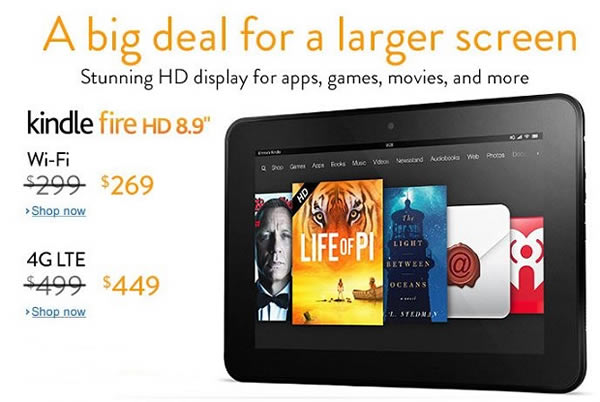 Amazon oferta el Kindle Fire HD 8.9 por San Valentín
