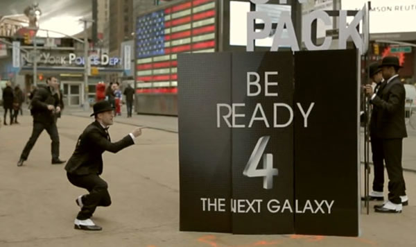Video: Ingenioso Flash Mob a horas del lanzamiento del Galaxy S4