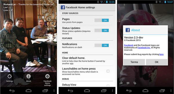 Descarga de Facebook Home se filtra por algunas horas