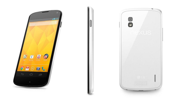 LG lanza su Google Nexus 4 de color blanco