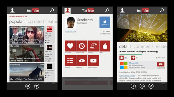 Se estrena nueva aplicación Youtube para Windows Phone