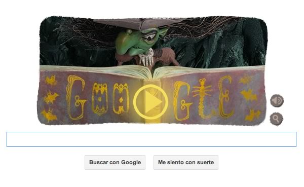 Google ya celebra Halloween con divertido Google Doodle + Video