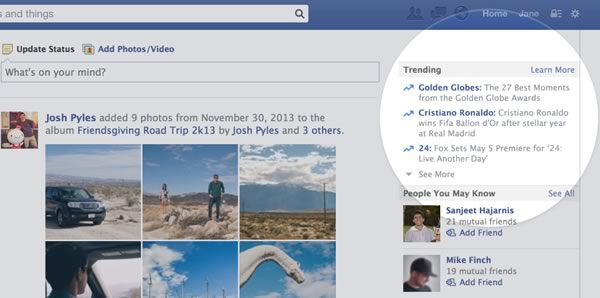 Facebook anuncia sus Trending Topics (lo más popular en la red)