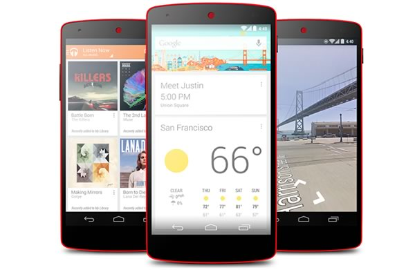Google lanza su Nexus 5 en color rojo