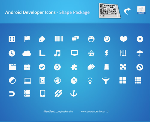 Set de Iconos para Android (Photoshop Shapes)