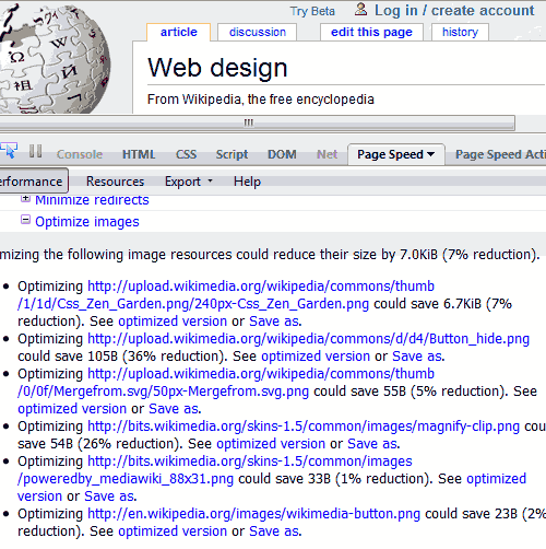 Wikipedia con Google Optimizer