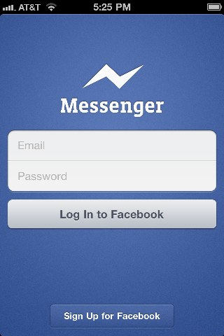 iPhone - Facebook Messenger Login