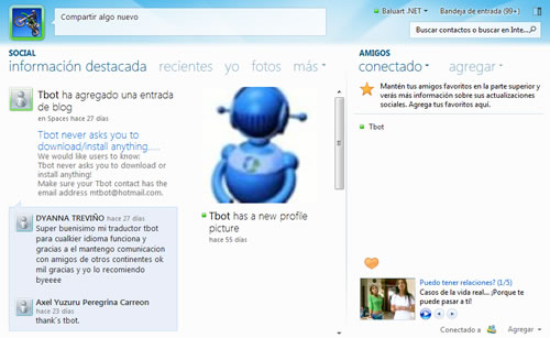 Vista Full Messenger
