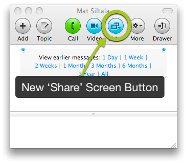 Skype Screen Sharing