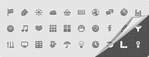 Android Icons: 30 iconos vectoriales para Android
