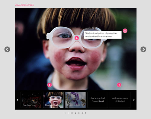 Awkward Showcase: Slider de jQuery con thumbnails, captions y tooltips
