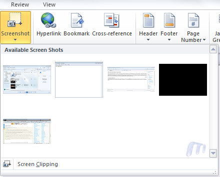 Screenshoots Office 2010