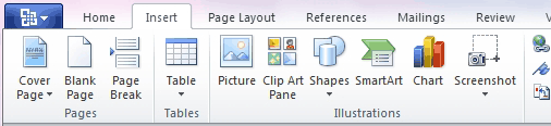 Screen clipping en Word 2010
