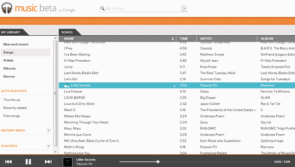 Google Music Beta Organizar Canciones en la Nube