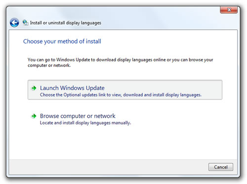 Launch Windows Update