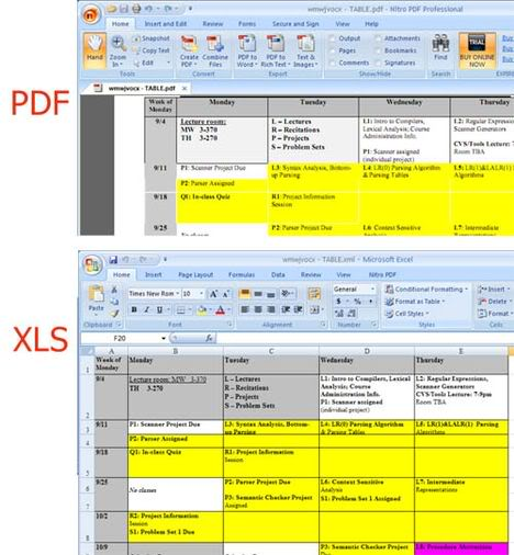 pdf to excel screenshot