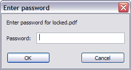 Escribir password PDF
