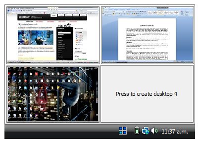 Crear escritorios virtuales con Windows Vista