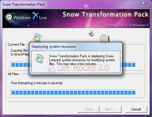 Instalar Snow Transformation Pack