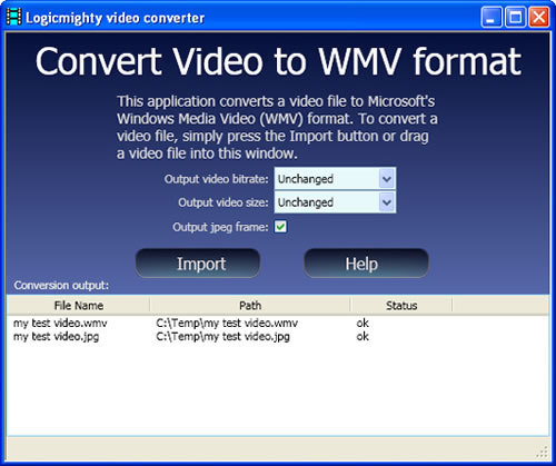 Convertir Video a WMV ConvertToWMV