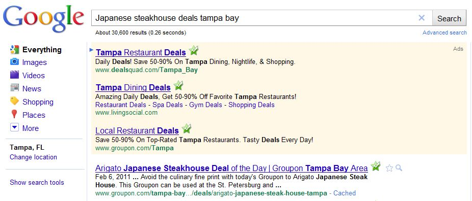 Groupon Ranking Google