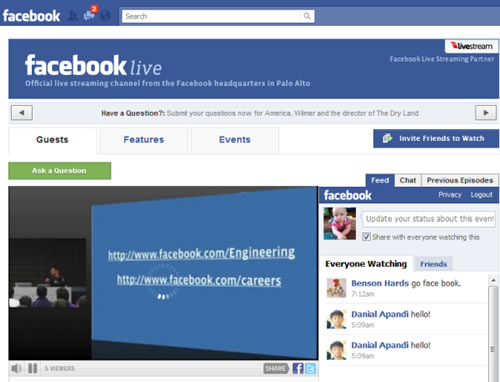 Facebook Live, el canal de video en vivo de Facebook