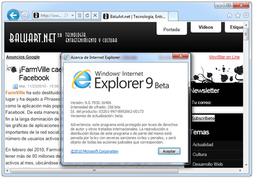 Internet Explorer 9 Beta 2 listo para descargar