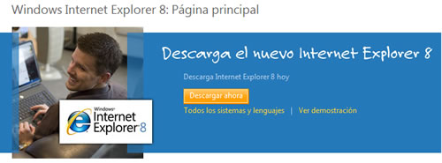 Descargar Internet Explorer 8