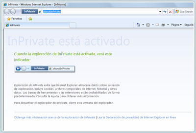 Internet Explorer 8 inPrivate Browsing