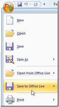 Save to Office Live