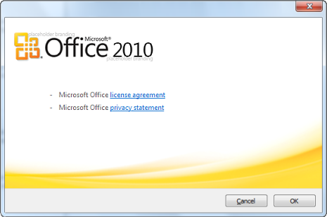 Screeshots de Microsoft Office 2010