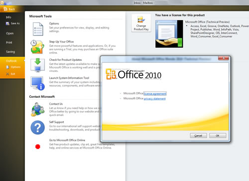MS Office 2010 Outlook Opciones