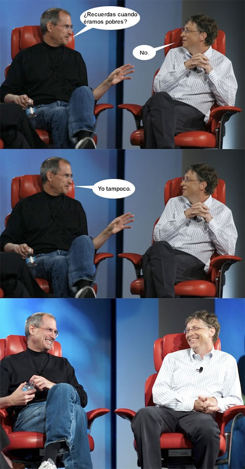 Steve Jobs y Bill Gates Juntos