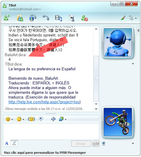 Messenger Traductor 2