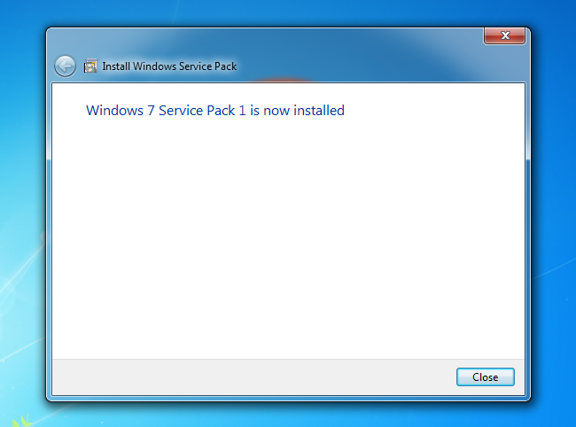 Service Pack 1 Windows 7 Instalado