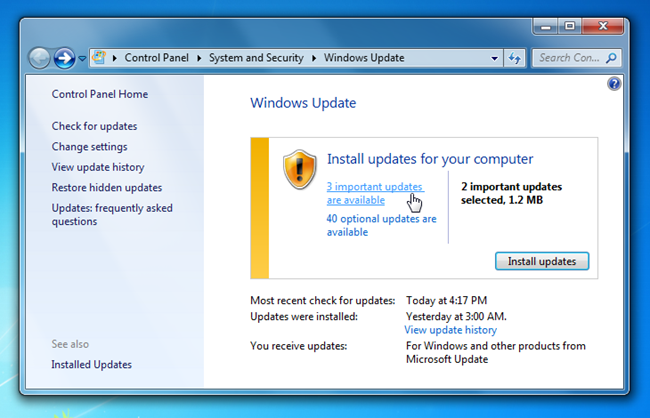 Windows Update Service Pack 1 Windows 7