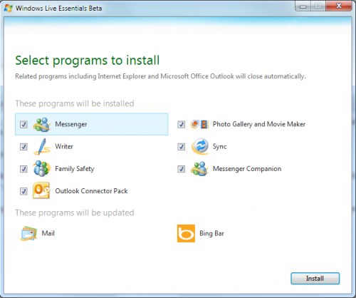 Windows Live Essentials 4 beta lista para descargar