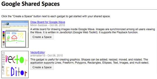 Google Shared Spaces